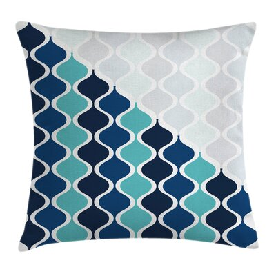 Arabic Wavy Stripes Spirals Pillow Cover Size: 16 x 16