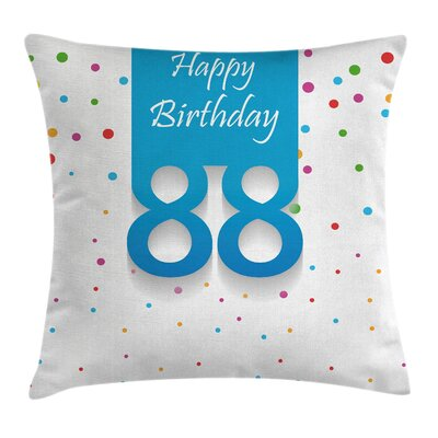 Celebration Polka Dots Square Pillow Cover Size: 24 x 24