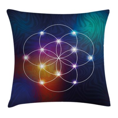 Digital Circles Grid Esoteric Pillow Cover Size: 16 x 16
