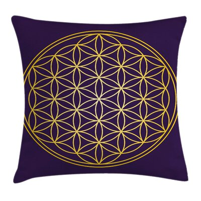 Geometric Circle Overlap Sacred Pillow Cover Size: 18 x 18