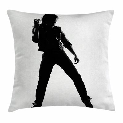 Michael Jackson Musical Idol Square Pillow Cover Size: 18 x 18