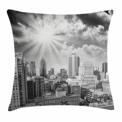 Aerial Montreal Square Pillow Cover Size: 16 x 16