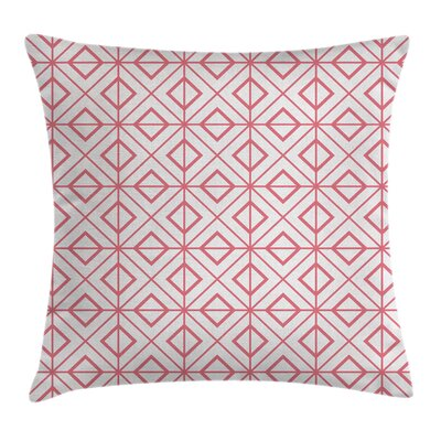 Coral Decor Hexagonal Triangles Pillow Cover Size: 16 x 16