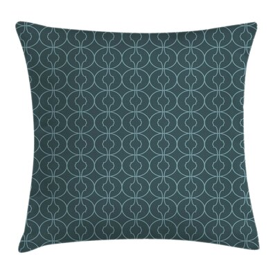 Moroccan Orient Circles Corners Square Pillow Cover Size: 18 x 18
