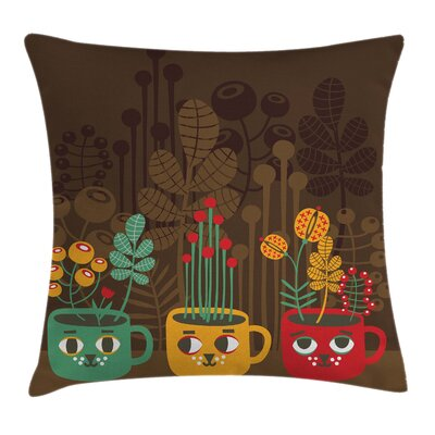 Garden Plants Pillow Cover Size: 18 x 18