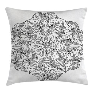 Indian Ethnic Cosmos Symbol Pillow Cover Size: 24 x 24