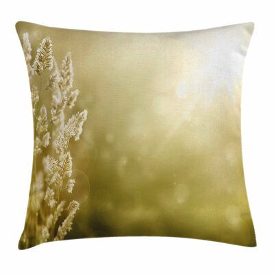 Fall Decor Scenic Autumn Meadow Square Pillow Cover Size: 16 x 16