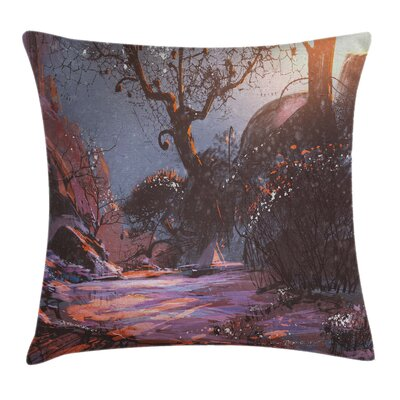 Winter Mystery Forest Artwork Pillow Cover Size: 24 x 24