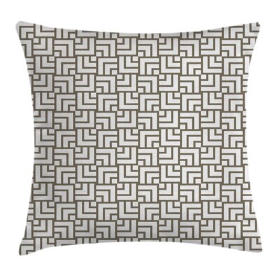 Modern Decor Vintage Maze Lines Pillow Cover Size: 18 x 18