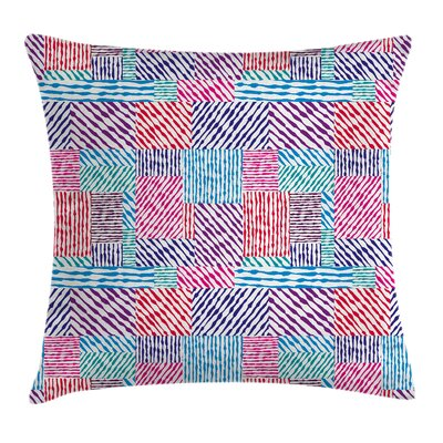 Wavy Lines Vertical Pillow Cover Size: 18 x 18