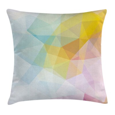 Abstract Squares and Sharp Line Pillow Cover Size: 20 x 20