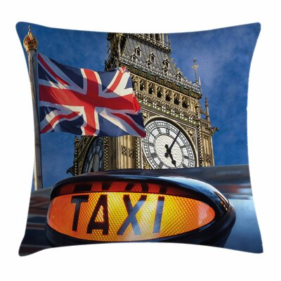 Union Jack Urban Country Icons Square Pillow Cover Size: 16 x 16