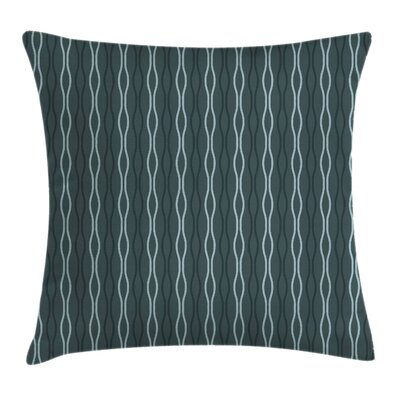 Under the Sea Wave Lines Square Pillow Cover Size: 24 x 24