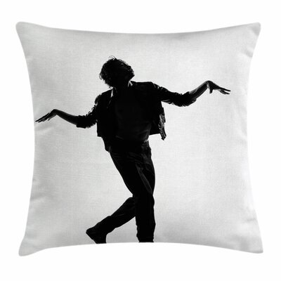 Michael Jackson Iconic Singer Square Pillow Cover Size: 18 x 18
