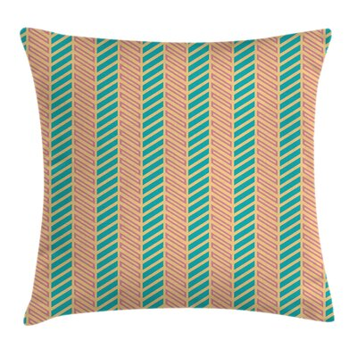 Geometrical Rectangular Stripes Pillow Cover Size: 18 x 18