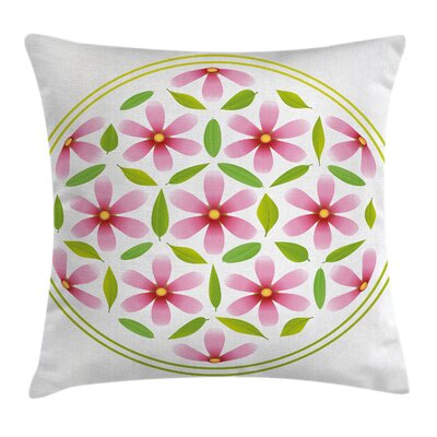 Garden Circle Cosmos Beauty Pillow Cover Size: 18 x 18