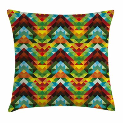 Colorful Abstract Optic Pattern Square Pillow Cover Size: 20 x 20
