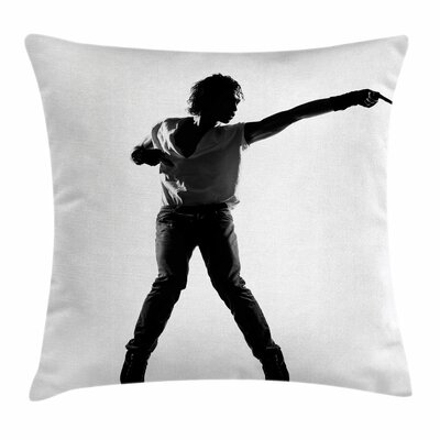 Michael Jackson Artist on Stage Square Pillow Cover Size: 16 x 16