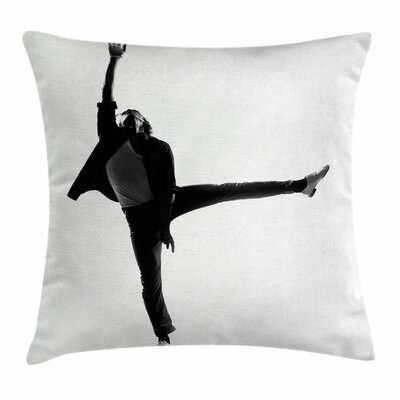 Michael Jackson Dance Moves Square Pillow Cover Size: 18 x 18