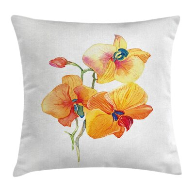 Garden Orchid Petal Wild Exotic Pillow Cover Size: 18 x 18