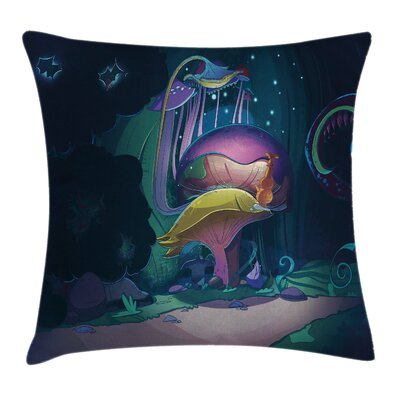 Mushrooom Big Magical Plant Pillow Cover Size: 16