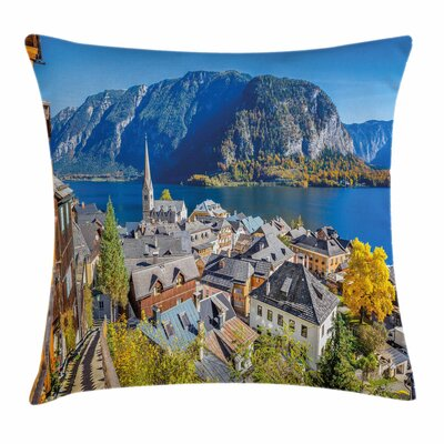 Fall Decor Mountain Village Square Pillow Cover Size: 24 x 24