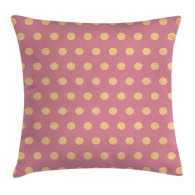 Polka Dots Retro Modern Rounds Pillow Cover Size: 18 x 18