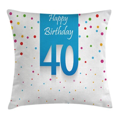 Stylized Confetti Dots Pillow Cover Size: 16 x 16