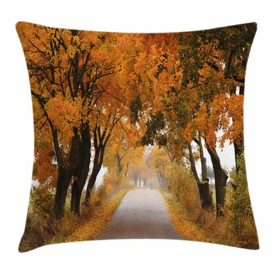 Fall Decor Serene Vivid Rustic Square Pillow Cover Size: 20 x 20
