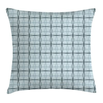 Square Wavy Lines Patterns Square Pillow Cover Size: 16 x 16