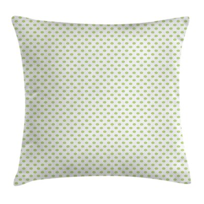 Vintage Retro Polka Dots Square Pillow Cover Size: 18 x 18