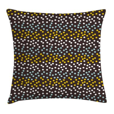 Polka Dots Circle Pillow Cover Size: 18 x 18