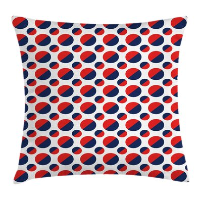 Geometric Circles Rounds Square Pillow Cover Size: 18 x 18