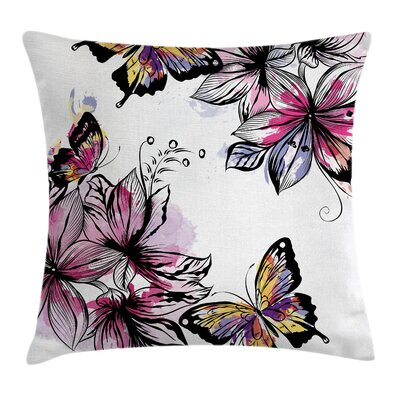 Floral Blooms Botany Colorful Pillow Cover Size: 16 x 16