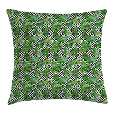 Macro Palm Tree Leaves Pillow Cover Size: 18 x 18