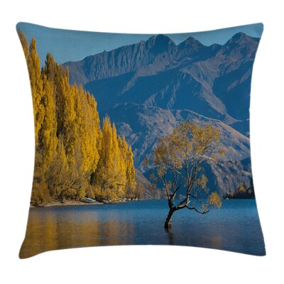 Nature Sunken Tree Lake Rural Pillow Cover Size: 16 x 16