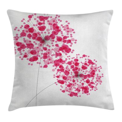 Abstract Dandelion Artwork Pillow Cover Size: 24 x 24