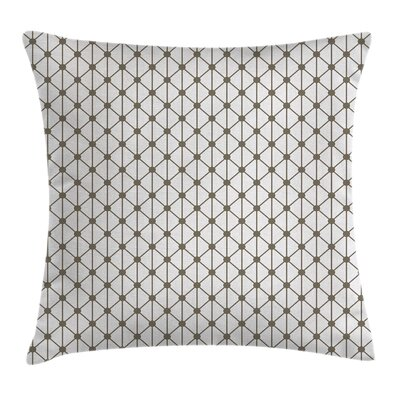 Modern Hexagonal Shaped Line Pillow Cover Size: 16 x 16