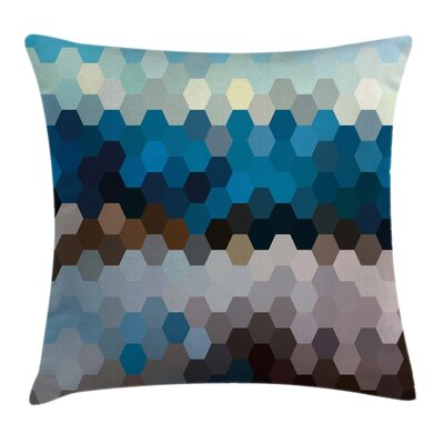 Winter Geometric Puzzle Blurry Pillow Cover Size: 24