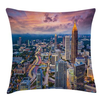 USA Atlanta City Georgia Town Pillow Cover Size: 24 x 24