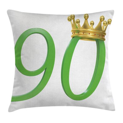 Celebration Queen Crown Ninety Square Pillow Cover Size: 20 x 20
