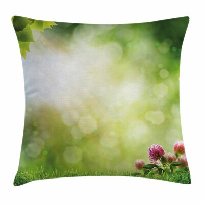 Nature Fresh Spring Blossoms Square Pillow Cover Size: 16 x 16