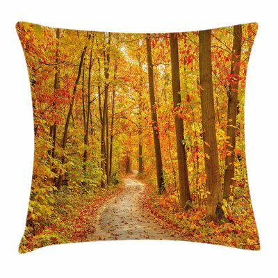 Fall Decor Pathway Wilderness Square Pillow Cover Size: 20 x 20