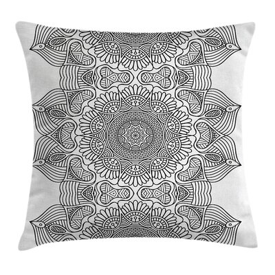 Indian Folk Pattern Moroccan Pillow Cover Size: 18 x 18