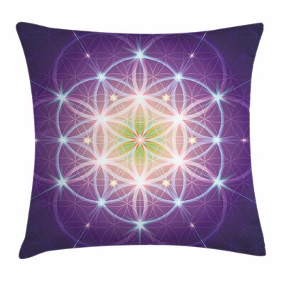 Bohemian Sign of Cosmos Folk Pillow Cover Size: 18 x 18