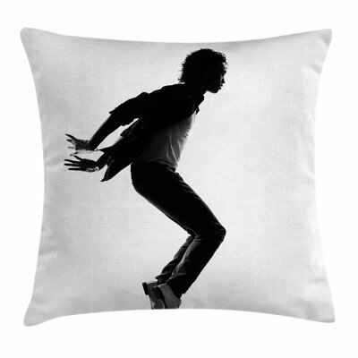 Michael Jackson American Talent Square Pillow Cover Size: 18 x 18
