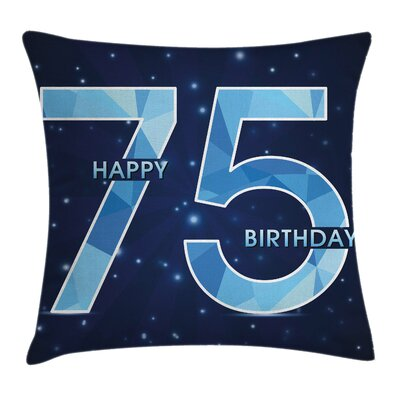 Birthday Theme Stars Square Pillow Cover Size: 24 x 24