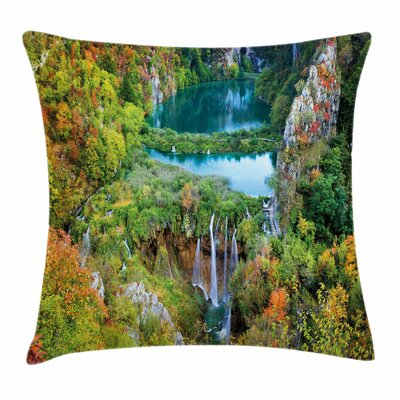 Fall Decor Scenic Fall Valley Square Pillow Cover Size: 16 x 16