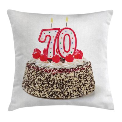 Candle Sprinkles Party Square Pillow Cover Size: 18 x 18