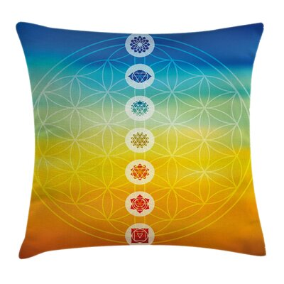 Chakra Power Universe Harmony Pillow Cover Size: 16 x 16